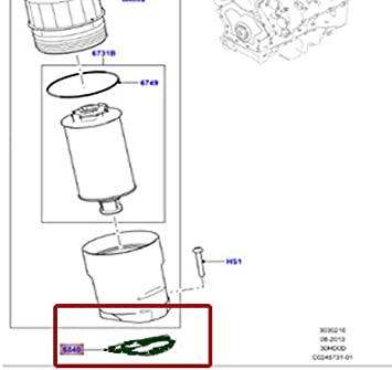 LAND ROVER OIL FILTER GASKET 3.0L SC V6 PETROL LR010735