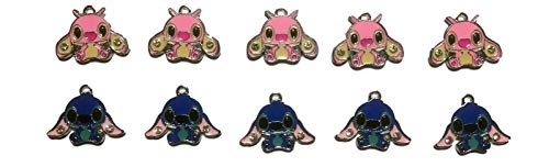(New Horizons Production Lilo and Stitch Stitch and Angel Set of 10 DIY Charms Pendant)