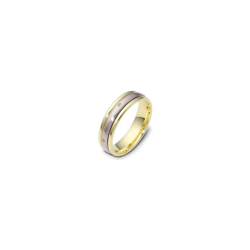 Designer Diamond SPINNING 18 Karat Two Tone Gold Wedding Band Ring   8