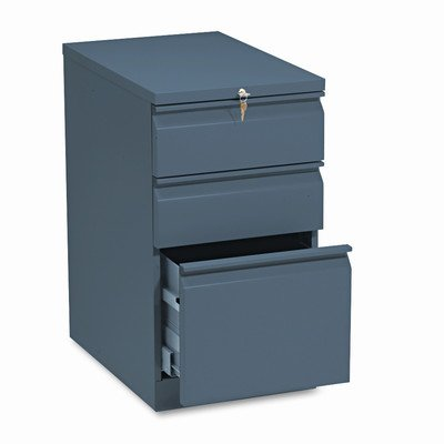 Brigade Mobile 3-Drawer File Pedestal Finish: Charcoal