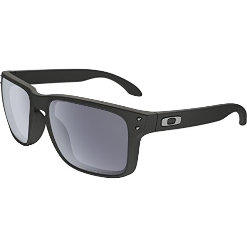 Oakley Mens Holbrook Asian Fit Sunglasses, Steel/Grey Polarized, One - Oakleys Polarized