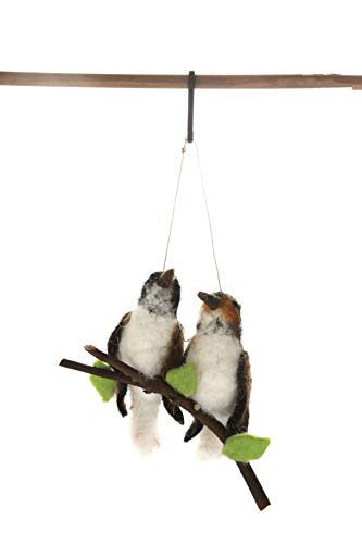 Felt Bird - Creative Co-Op Wool Felt Birds on Branch Ornament