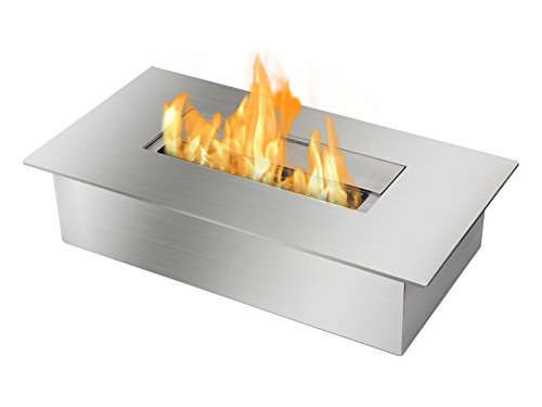 Ventless Fireplace Insert (Ignis Ventless Bio Ethanol Fireplace Burner Insert EB1400)