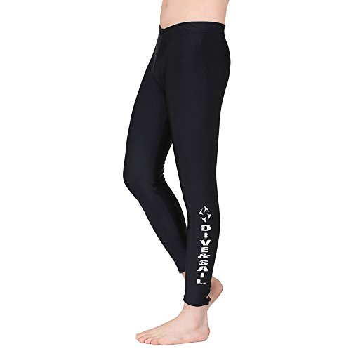 A Point Swim Pants - Swim Tights - Swimming Pants Diving Pants for Men and Women (men's black, M)