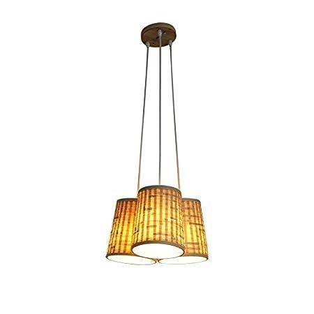 Lying Bambus Gewebte Kronleuchter Tischdekoration Lampe Wohnzimmer