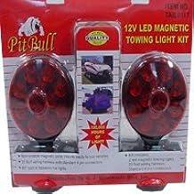 Pit Bull CHIL003 Pit Bull CHIL003 12V LED Magnetic Towing Light Kit Set of Tow Brake Lights