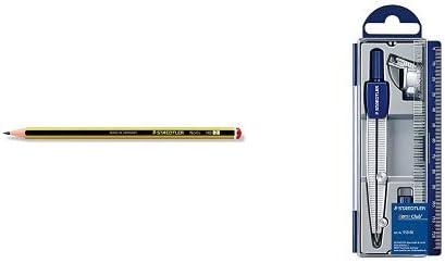 Staedtler - Pack lapiz Noris HB (12 unidades) + Set de dibujo: estuche, compás escolar, adaptador y tubo de minas: Amazon.es: Oficina y papelería