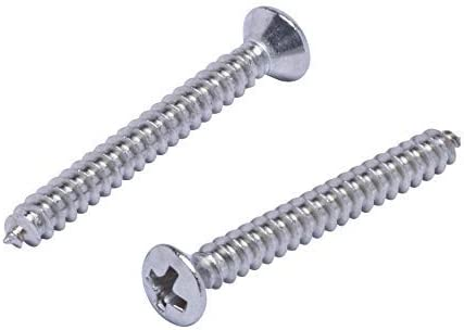 304 100pc 18-8 #4 X 1//2 Stainless Truss Head Phillips Wood Screw Stainless Steel Screws by Bolt Dropper