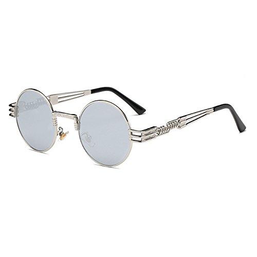 C17 Lunettes Femmes Rond Steampunk WrapEyeglasses Hommes de Métal Polarized hibote Gothique soleil 8PqECw