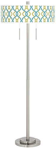 Hyper Links Taft Giclee Brushed Nickel Floor - Nickel Link Brushed