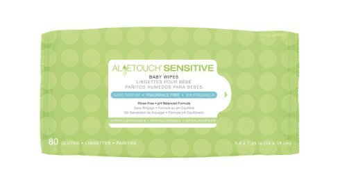 Aloetouch Sensitive Personal Cleansing Baby Wipes, WIPE,BABY,FRAG FREE,80/PK - 1 PK, 80 EA