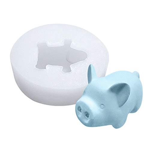 Colmkley Little Cute Pig Silicone Mold 3D Pig Cake Moulds Cartoon Fondant Chocolate Cake Decorating Molds, Silicone Candle Chocolate Mousse Pudding Ice Cream Soap Molding, DIY Decorations