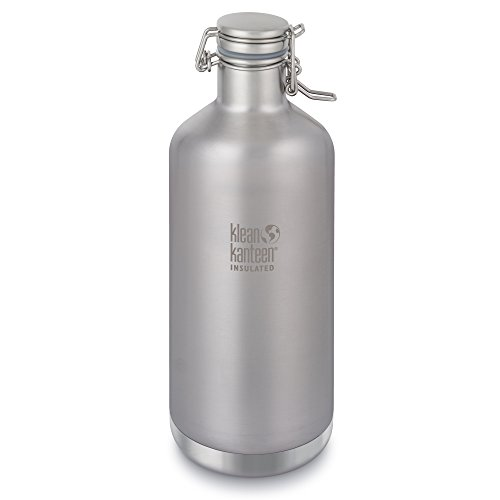 Klean Kanteen 64oz  Classic Vacuum Insulated Growler (w/Swing LokTM Cap) Brushed Stainless
