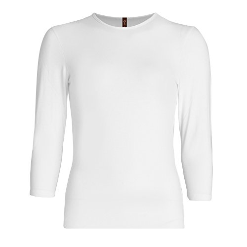 Esteez Girls 3/4 Sleeve Shirt Relaxed Fit EX601148 White - Style Coupon For Less
