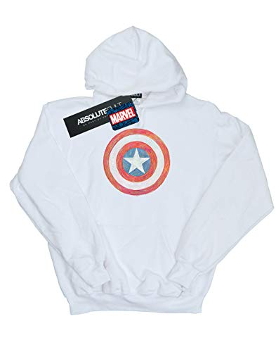 Shield À Captain America Blanc Femme Sketched Marvel Sweat Capuche aHIzYxqw