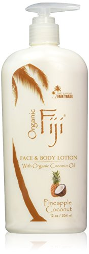 Organic Fiji Nourishing Face & Body Lotion, Pineapple Coconut, 12-Ounces