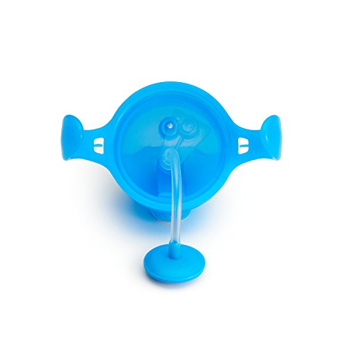 31YsDNL7NwL - Munchkin Any Angle Click Lock Weighted Straw Trainer Cup, Blue, 7oz