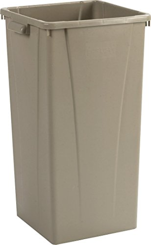 Beige Square Container - Carlisle 34352306 Centurian Polyethylene Tall Square Container, 23 Gallon Capacity, 15.29
