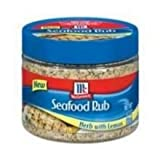 Mccormick Herb with Lemon Seafood Rub - 4.2 oz. jar, 12 per case