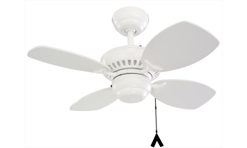 Monte Carlo 4CO28WH Colony II 28-Inch 4-Blade Ceiling Fan, White Motor Finish and White Blades, Appliances for Home