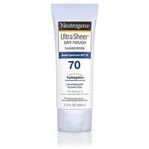 Neutrogena Ultra Sheer Dry-Touch Sunscreen Lotion, Broad Spectrum SPF 70, 3 Fl Oz