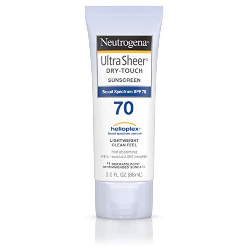 Neutrogena Ultra Sheer Dry-Touch Water Resistant and Non-Greasy Sunscreen Lotion with Broad Spectrum SPF 70, 3 fl. -