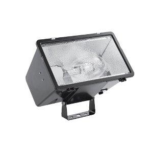 Hubbell Outdoor Lighting MHSY320P8 320-watt Pulse Start Metal Halide Floodlight  with Lamp, Yoke Mount and Quad-Tap Ballast, Bronze