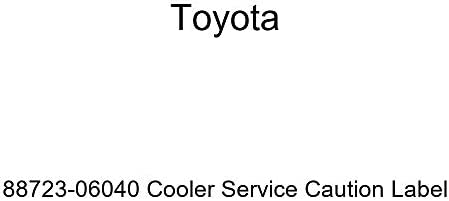 TOYOTA 88723-06040 Cooler Service Caution Label