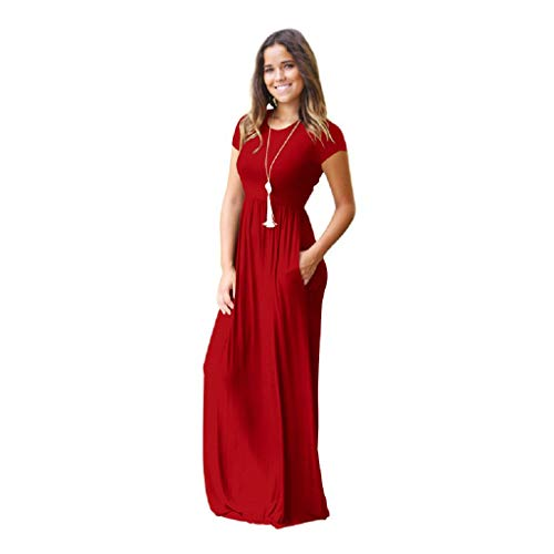 4751158dcf XMNDS Women s Maxi Dresses Skull for Women tie for Women red Wedding ...