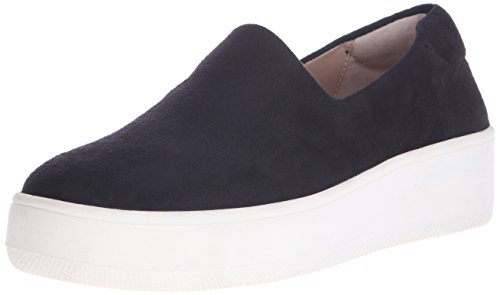 STEVEN by Steve Madden Women's Hilda Fashion Sneaker, Black, 6.5 M US (Black Slip Sneakers On Platform)
