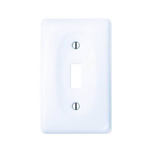 - Amerelle Allena Single Toggle Ceramic Wallplate in White
