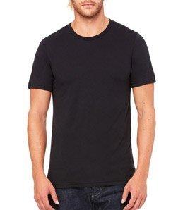 Canvas 3413 Unisex Triblend Short-Sleeve T-Shirt, Solid Black, Large Bella Short Sleeve T-shirt