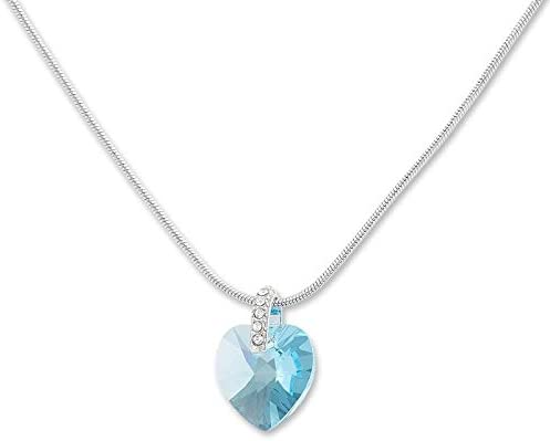 Tillberg Collier avec pendentif en forme de cœur de l'océan serti ...