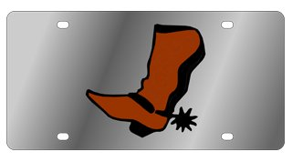 Cowboy Boot License Plate