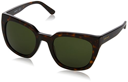 DKNY Women's Acetate Woman Square Sunglasses, Dark Tortoise, 52 mm Dkny Glasses Frames
