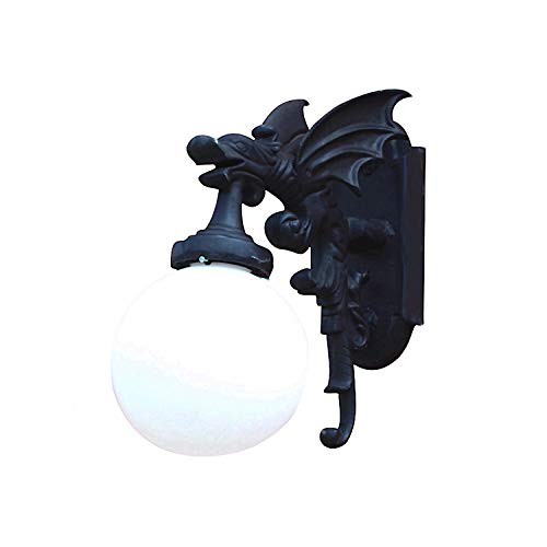 - Outdoor Wall Light Sconce Fixture antique styl GARGOYLE DRAGON wings vintage
