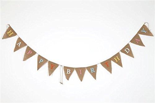 44jiu44Joyeux anniversaire fanions en toile de jute NAIMRKYUBH748