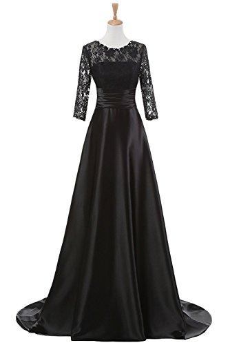 8eb58ffba09 Snowskite Women s High Neck Half Sleeves Lace Satin Mother of The Bride  Groom Dress