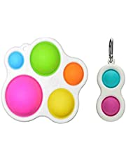 Fidget Dimple Toy,Stress Relief Hand Toys for Kids and Adults,Easy-to-use and Addictive Decompression,Soft Silicone Ergonomic Fidget Toy for Kids Adults