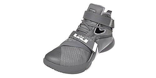 Nike Herren Lebron Soldier IX Basketballschuh Cool Grey / Dunkelgrau / Pure Platinum