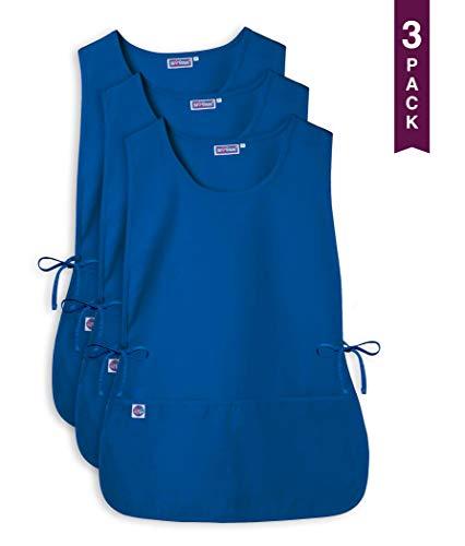 Sivvan Unisex Cobbler Apron - Adjustable Waist Ties, 2 Deep front pockets (3 Pack) - S87003 - Royal Blue - X ()