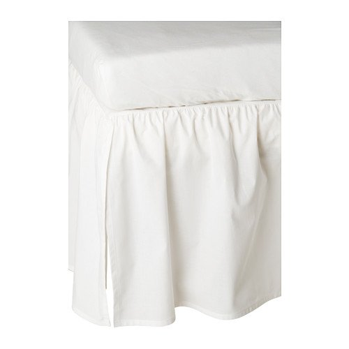 Crib Dust Ruffle - Ikea Len Crib Skirt, White