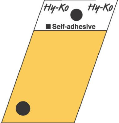 Hy-Ko Angle Cut Period Symbol Sign