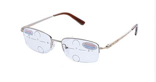 Deding Fashion Men Metal Progressive Reading Glasses Silver Gold - Whole Sunglasses Sale