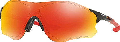 Oakley Men's Evzero Path Non-Polarized Iridium Rectangular Sunglasses, Ruby Fade, 38 - Sunglasses Ruby