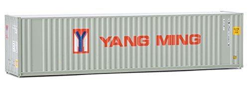 Walthers Trainline 40' Hi-Cube Corrugated Container w/Flat Roof Yang Ming - Assembled Train Collectable Train