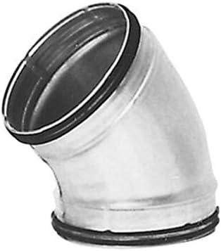 DN 450 mm Bogen Winkel 45/° DN 80 bis 450 mm Lippendicht.Wickelfalzrohr