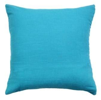 Linen Clubs 2PACK Slub Cotton Throw Pillow Cover/Euro Sham/Cushion Sham, Super Luxury Soft Pillow Cases-Teal 18x18inch ()