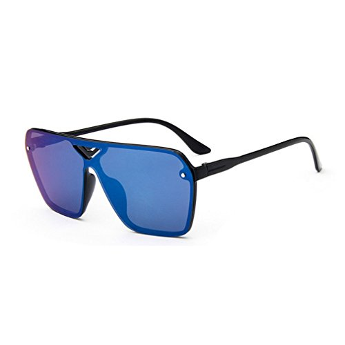 G&T 2016 New Mens Fashion Personality Uv Protection Colorful Rectangular - And Cheapest Light D G Blue