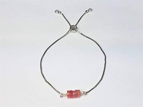 Pink Sapphire 6 MM Adjustable Bracelet